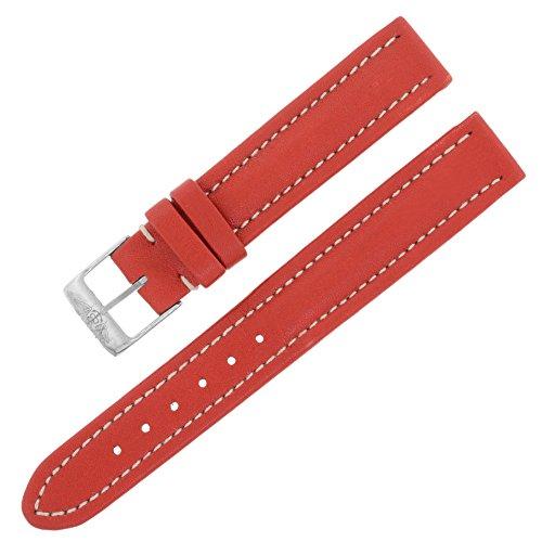 Breitling 130x 15–14mm Echt Leder Rot Damen-Armbanduhr Band W. Schnalle