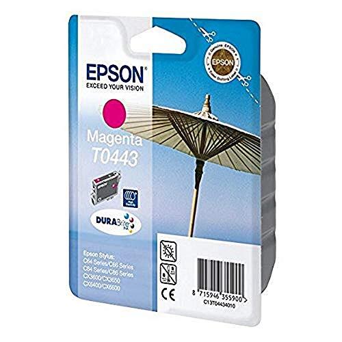 Epson T0443 Sonnenschirm, wisch- und wasserfeste Tinte (Singlepack) magenta