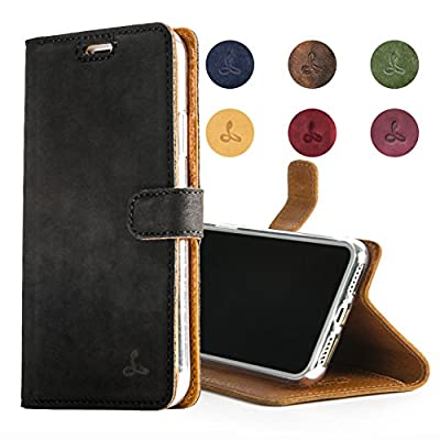 Snakehive Vintage Wallet for Apple iPhone 8 Plus || Genuine Leather Wallet Phone Case || Real Leather with Viewing Stand & 3 Card Holder || Flip Folio Cover with Card Slot