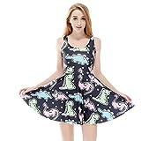 Una Digital Printing Dinosaur ABDL DDLG Dress Cute Adult Baby Clothing (m) Blue