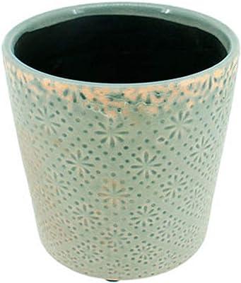 Beton-Blumentopf Übertopf mit Muster rund versch Größen und Farben Dehner