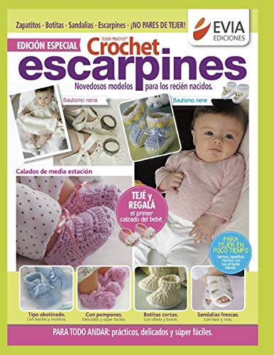 CROCHET ESCARPINES 1: novedosos modelos para los recién nacidos
