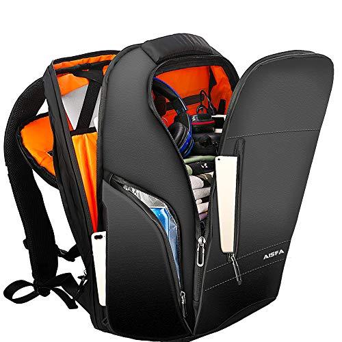 リュック メンズ リュックサックAISFA バックパック防水15.6インチ PC ビジネスリュックラップトップバック大容量 USB充電ポート付き30L 男女兼用多機能通気性 A4収納多ポケットアウトドア旅行 通勤 修学 学生 バッグ