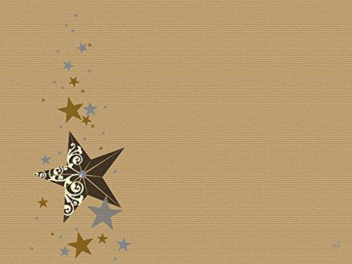 Duni Papier Tischset Walk of Fame Cream 30x40 cm 250er Pck, Duni Weihnachten, Duni tischset weihnachten, tischdeko weihnachten