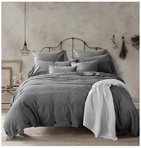 Doffapd Duvet Cover King, Washed Cotton Duvet Cover Set - 3...