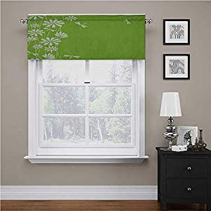 Crib Bedding And Baby Bedding Interestlee Dragonfly Window Treatments Flower Petals Spring Motif Childish Growth Nature Seasonal Graphic Art For Kids Room/Baby Nursery/Dormitory Lime Green White, 54&Quot; X 12&Quot;