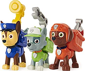Paw Patrol Action Pack Pups Chase Rocky and Zuma 3-Pack of Collectible Figures with Sounds and Phrases