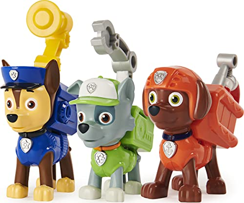 Paw Patrol, Action Pack Pups Chase, Rocky and Zuma 3-Pack of Collectible Figures with Sounds and Phrases