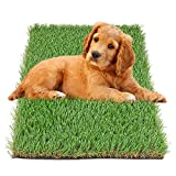 hygger Artificial Grass Turf, 17in x 24in(2.84 Square FT), Realistic Synthetic Artficial Turf Rug for Dogs, Indoor/Outdoor Garden Lawn Patio Balcony Grass Mat
