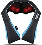 Back and Neck Massager - Shiatsu Shoulder Massager - Electric Deep Kneading Massage with Heat - Massage for Muscle Relief, Tired Back, Neck, Shoulder & Legs