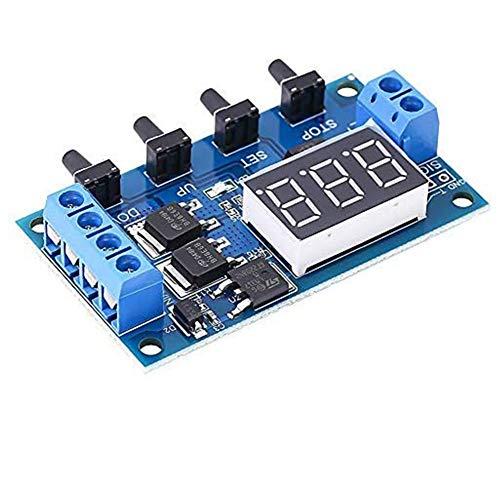 Relé de retardo de temporizador MOS encendido apagado interruptor de temporizador con pantalla de tubo digital carcasa protectora para el hogar inteligente control automático