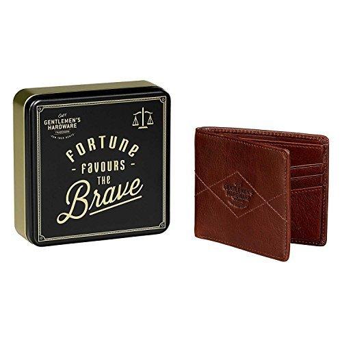 Gentlemen's Hardware Reise-Geldbörse Leder, braun (Braun) - GEN225
