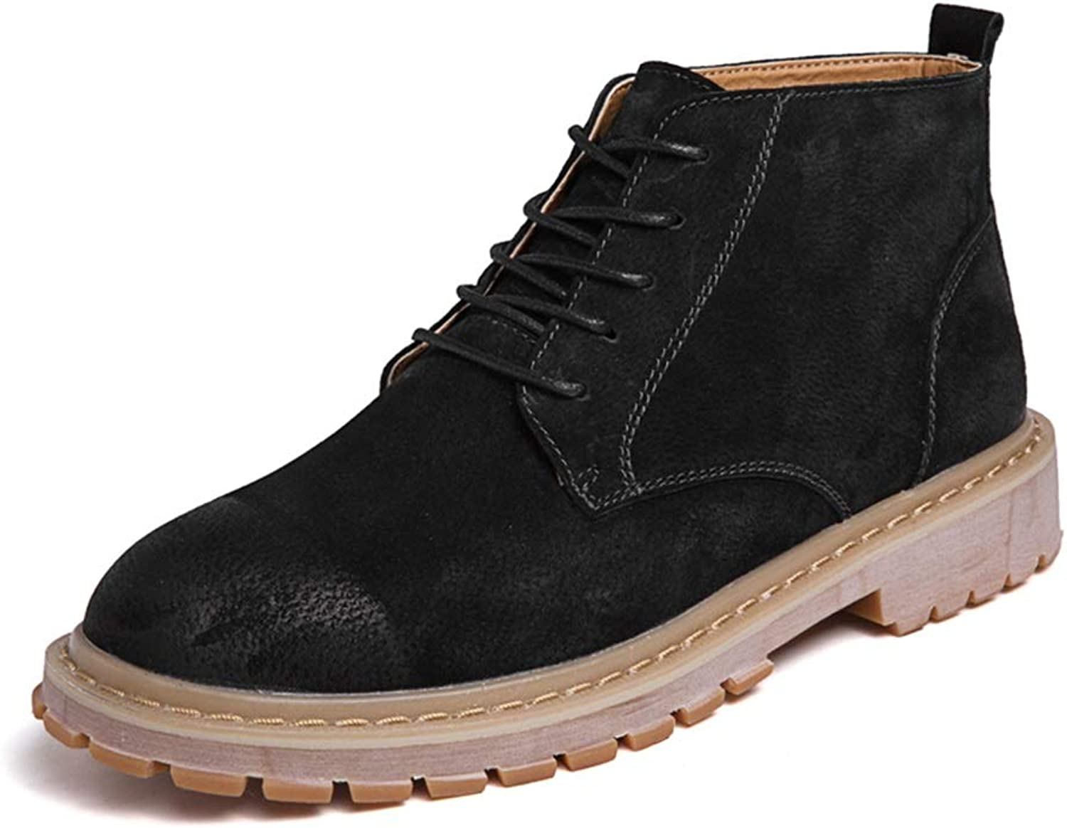 Xujw-shoes 2019 Mens Boots Men's Casual Simple and Comfortable Classic High Top Boot Fashion Retro Ankle Work Boot