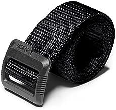 CQR Tactical Belt, Heavy Duty Belt, Military Style Nylon Webbing EDC Quick-Release Buckle, Plastic Flip Tab(mzt01) - Black, XXL[w44-46]