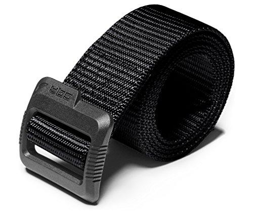CQR Taktischer Gürtel, Militär-Stil, robuster Gürtel, Nylon-Gurtband, EDC Schnellverschluss-Schnalle, Kunststoff-Klapplasche, schwarz, XL [w40-42]