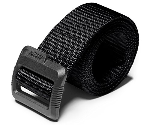 CQR Tactical Belt, Military Style Heavy Duty Belt, Nylon Webbing EDC Quick-Release Buckle, Plastic Flip Tab(mzt01) - Black, L[w36-38]