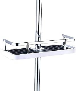 Fontic ABS Plastique Réglable Étagère de Douche Télescopique, Organiseur de salle de bain Porte-Savon pour Ranger Shampooi...