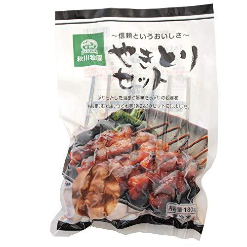 秋川牧園 無添加 冷凍総菜 国産 鶏 やきとりセット 3種類×2本 6パック