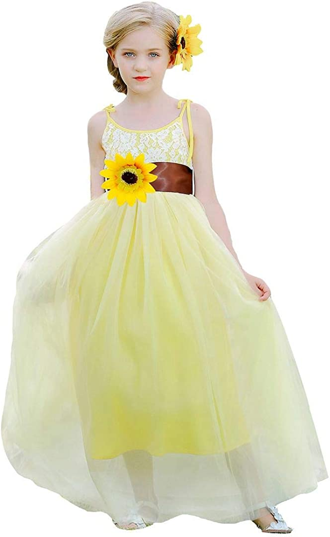 Bow Dream Today's only Finally resale start Flower Girl Dresses Party Lace Wedding Bridesmaid