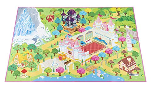 "MMP Living Kids Felt Play Mat - with Non-Slip, Grip Backing, Indoor/Outdoor, Machine Washable, 59"" L x 39"" W (Princess)"
