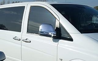VITO W639 - Juego de 2 cubiertas para espejo de plástico ABS cromado (para coches