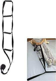 Bed Rail Assistance Devices Adjustable Bed Rail Assist Handle Ladder Hoist Frame Grips Medical Safety Pull Up Soft Rope Lifter Bedcaddie Trapeze for Adults, Elderly, Disabled, Handicap (Black)