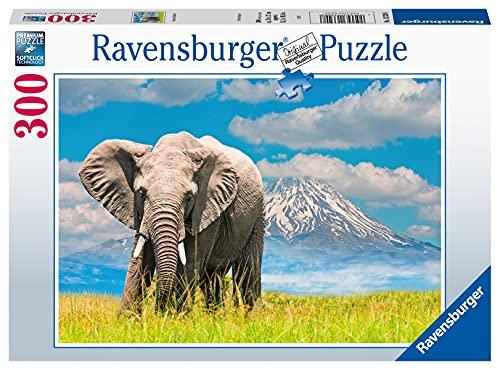 Ravensburger 300 Pezzi, Elefante Africano, Puzzle Adulti, Multicolore, 13320, Esclusiva Amazon