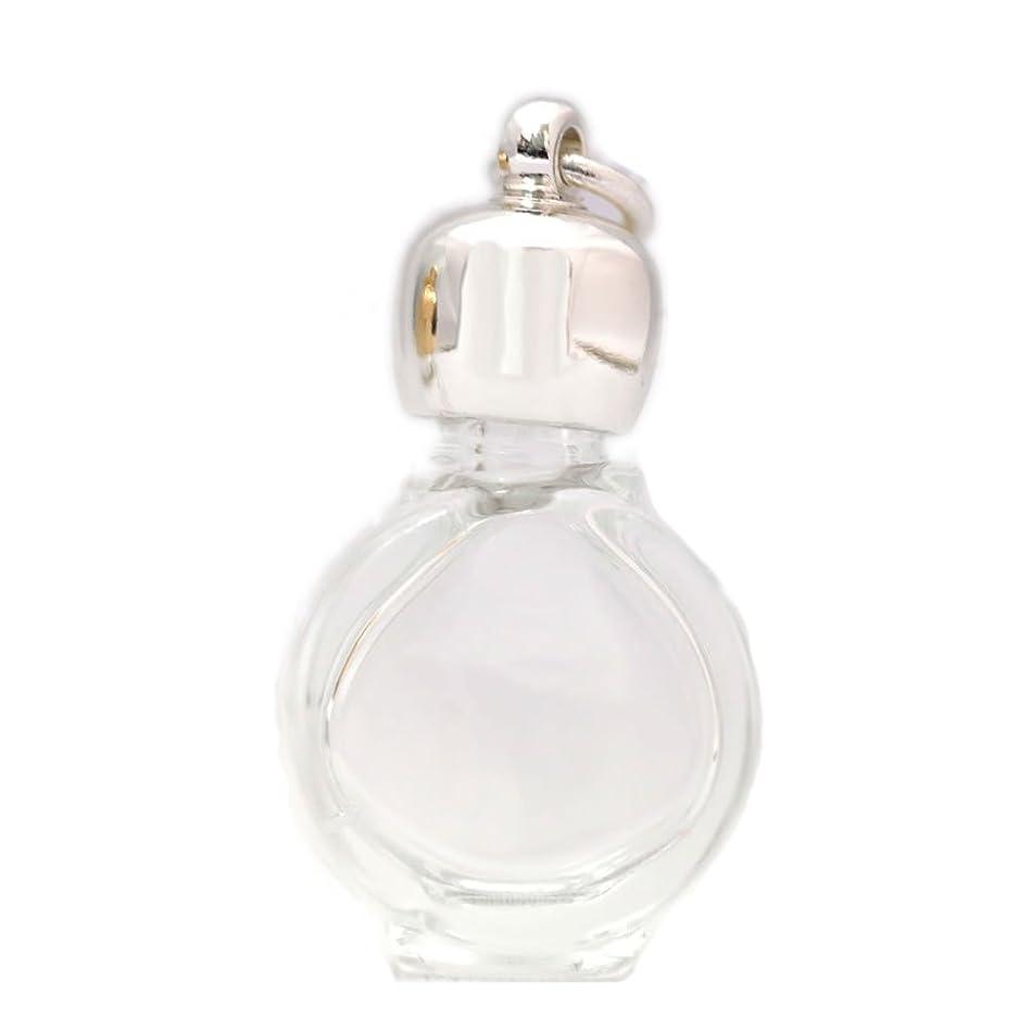 長方形胸ジェームズダイソンミニ香水瓶 アロマペンダントトップ タイコスキ(透明)1ml?シルバー?穴あきキャップ、パッキン付属