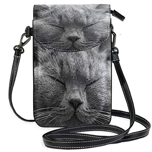 XCNGG Telefontasche Cat Cell Phone Purse Wallet for Women Girl Small Crossbody Purse Bags