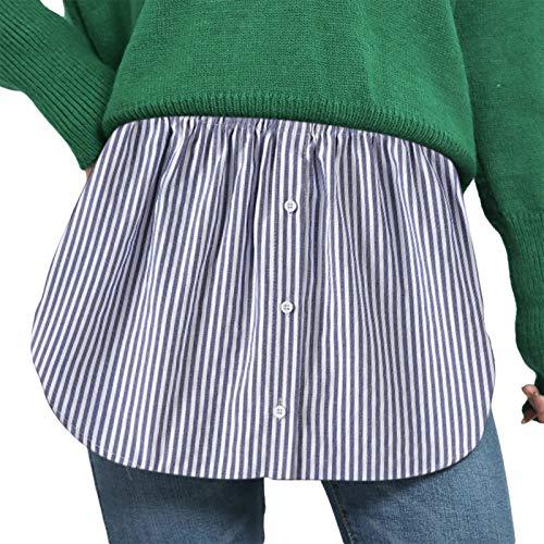 Minifalda ajustable para mujer y niña, falda falsa con dobladillo superior, una versión extensores de camisa inferior de barrido de la mitad