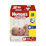 HUGGIES Snug & Dry Diapers, Size 1, 112 Count, BIG PACK (Packaging May...