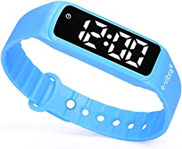 e-vibra 8 Alarm Vibrating Reminder Watch - Water Resistant Medication Vibration Reminder Watches for Kids Toilet Potty Tra...