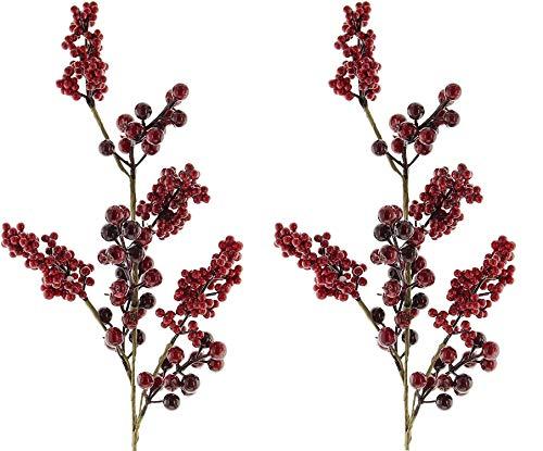 khevga Deko-Zweige Rote Beeren für Bodenvase 73 cm groß (2)