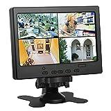 Koolertron 7' Moniteur CCTV Écran LCD avec HDMI/VGA/AV Port Support 1080P pour DSLR/PC/ Caméra de Vidéosurveillance/DVD/Voiture/ Domicile Bureau Système de Sécurité de Surveillance