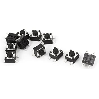 3 x 6 x 4.3mm Dragonmarts Co Uxcell Momentary SMT SMD PCB Push Button Tactile Switch Ltd // Uxcell a14120800ux0312