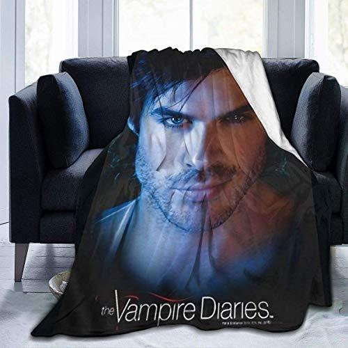 The Vampire Diaries Damon Ian Somerhalde Manta de Felpa mullida, Manta Suave y esponjosa