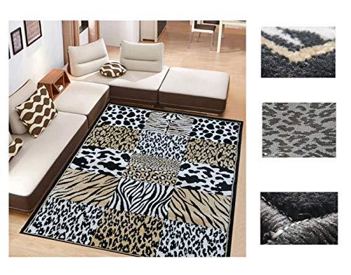 Comercial Candela Alfombra de Salón Diseño de Imitación Piel Animales Africa Frise (133_x_190 CM)