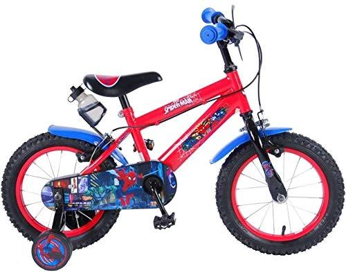Bicicleta Infantil Niño Chico 16 Pulgadas Spiderman Hombre Araña Frenos al Manillar...
