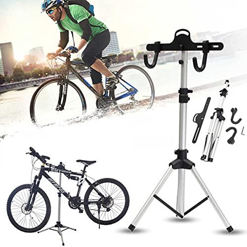 SEHNL Soporte de Bicicleta de aleación de Aluminio Herramientas de reparación de Bicicletas Profesionales Pliegue de Bicicleta Ajustable Soporte de reparación de Bicicletas de Almacenamiento