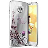 Coque pour Motorola Moto G6,Surakey Étui TPU Silicone Souple Coque Clair Transparent Cover Ultra...