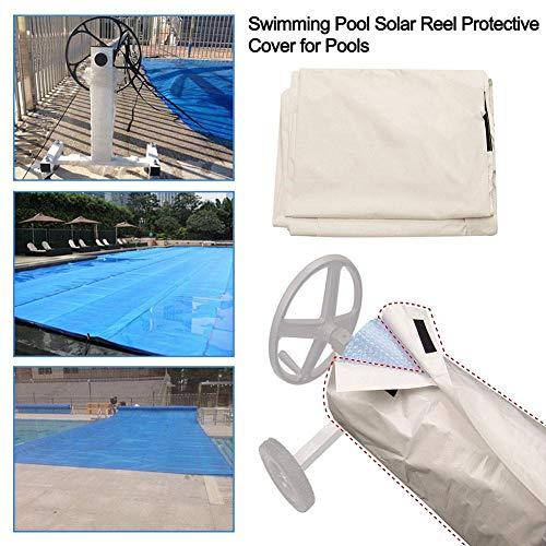 Yunhigh - Aufrollsysteme für Poolfolien in Weiß, Größe S: 490 * 96 cm
