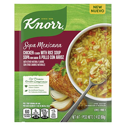 Knorr Sopa Mexicana/Dry Soup Mix For A Warm Bowl of Soup or Simple Dinner Chicken with Rice With No Artificial Flavors 2.4 OZ, 12 Count