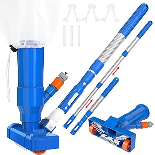 Upgraded Swimming Pool Vacuum Cleaner Kit, Portable Pool Vacuum Jet Cleaner...