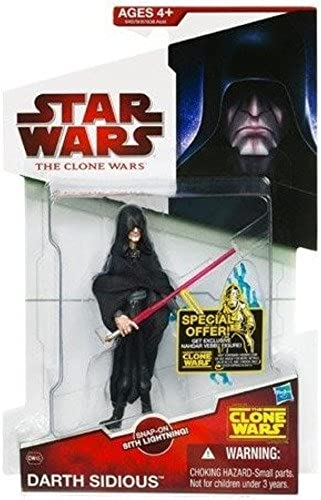 Darth Sidious CW45 Star Wars Clone Wars Action Figure