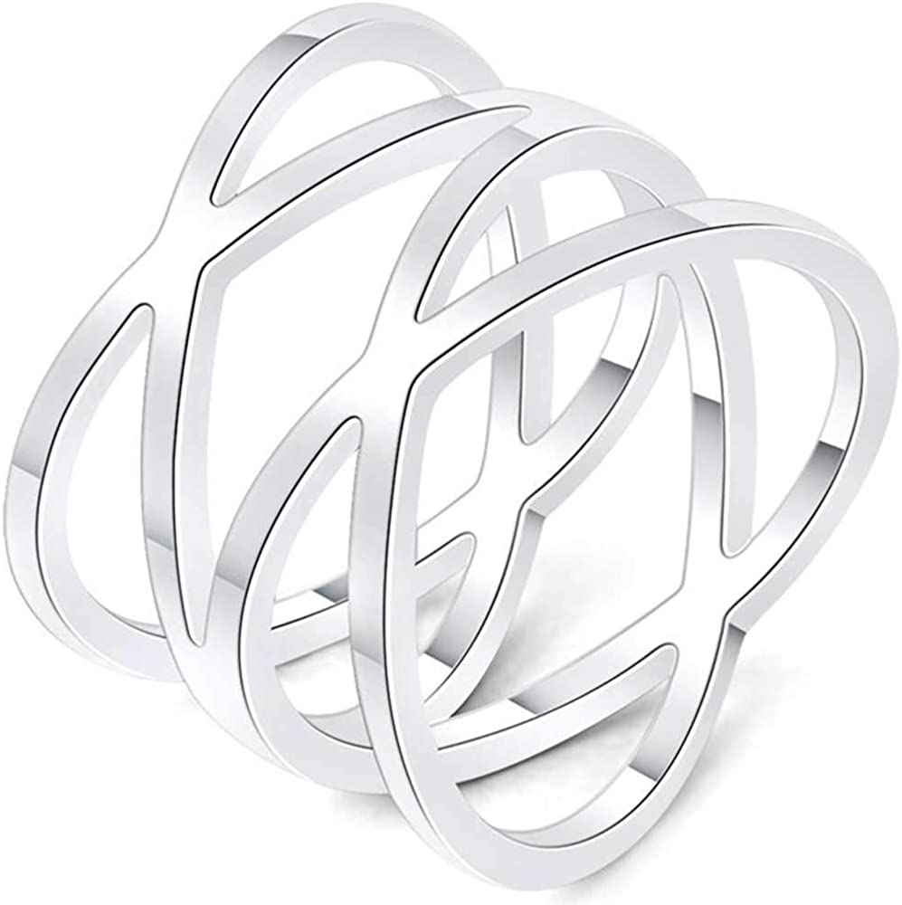 Jude Jewelers Stainless Steel Braided Woven Knot Wave Statement Anniversary Cocktail Party Ring