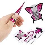 Opopark 300 Piezas Pegatinas Moldes Guías Autoadhesivas para Uñas Adhesivos para Guía de Forma de Uñas Extensión de Uñas