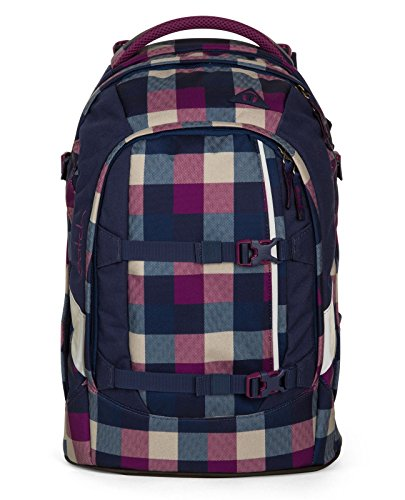 satch pack by ergobag 2er Set Schulrucksack Berry Carry & Regencape Purple