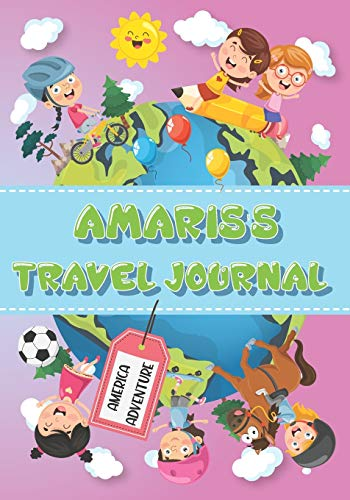 Amaris's Travel Journal: Personalised Awesome Activities Book for USA Adventures