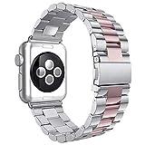 Aottom Compatible con Apple Watch Series 3 42mm, Correa Apple Watch SE 6 5 4 3 2 1, Correa Acero Inoxidable, Correas del Reloj para Hombre Mujer, Pulsera de Repuesto Hombre Correa para 42mm/44mm