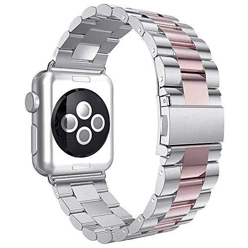 Aottom Compatible con Apple Watch Series 3 38mm, Correa Apple Watch SE 6 5 4 3 2 1, Correa Acero Inoxidable, Correas del Reloj para Hombre Mujer, Pulsera de Repuesto Hombre Correa para 38mm/40mm